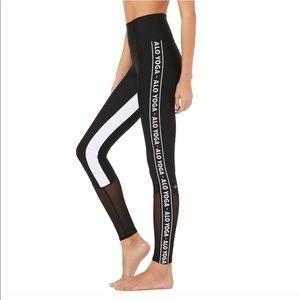 Alo yoga high waist trainer legging size XS black